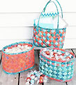 Diagonally Woven Baskets Pattern - Retail $9.00