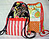Back In A Snap Drawstring Backpack Pattern - Retail $8.50