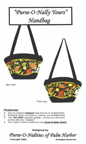 Purse-O-Nally Yours Purse Pattern - $12.00 - Click Image to Close