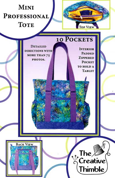 Mini Professional Tote Pattern - Retail $10.00 - Click Image to Close
