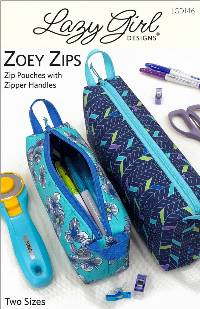 Zoey Zips Pouches Pattern - Retail $11.95