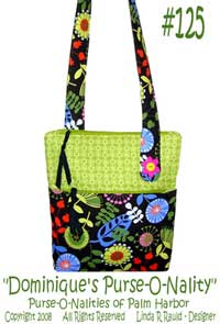 Dominiques Purse-O-Nality Purse Pattern - Retail $12.00