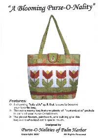 A Blooming Purse-O-Nality Tote Bag Pattern - Retail $12.00