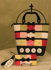 Posh Patchwork Purse and Wrislet - Retail $9.00