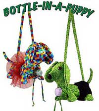 Bottle In A Puppy Beverage Tote Pattern- Retail $9.00