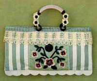 Ticking and Lace Handbag Pattern - Retail $7.50