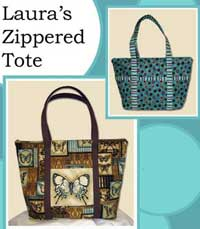 Lauras Zippered Tote - Retail $9.00